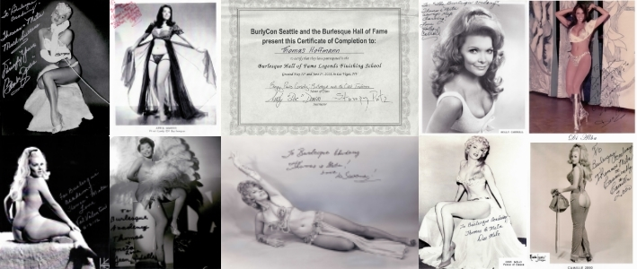 Referenzen - Burlesque Zertifikat und Legenden des Burlesque - Burlesque Hall of Fame Finishing School - Las Vegas - 2012